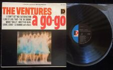 """THE VENTURES A GO GO 1960'S VINTAGE LP-12""""-SATISFACTION-WOOLY BULLY-LA BAMBA"""