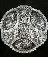 Exquisite antique American brilliant cut crystal bowl