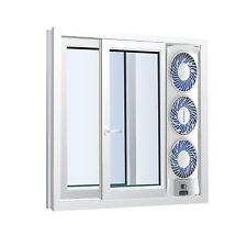 NEW Slim Window 3 Speed Fan Home Office Adjustable Thermostat Reversible Fans