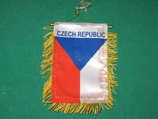"CZECH REPUBLIC FLAG MINI BANNER 4""x6"" CAR WINDOW MIRROR"