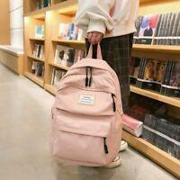 Nylon Women School Backpacks Solid School Bag Teenagers Girls Student Waterproof