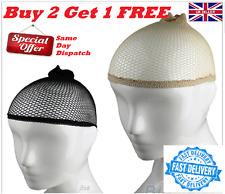 Hair Elastic Wig Cap Fishnet Liner Weaving Mesh Stocking Sleep Net Black UK Sell