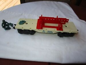 MARX 1796 ROCKET LAUNCHER FLAT CAR FROM CAPE CANAVERAL TRAIN SET AS IS
