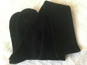 LADIES GORGEOUS HIGH QUALITY BAMBOO COTTON OVER THE KNEE LONG SOCKS PLAIN BLACK