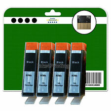 4 Black non-OEM Chipped Ink Cartridges for HP C309n C310 C310a 364 XL