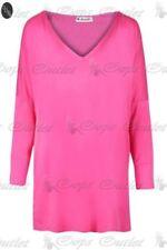 Maglie e camicie da donna rossi scollo a v , Taglia 44