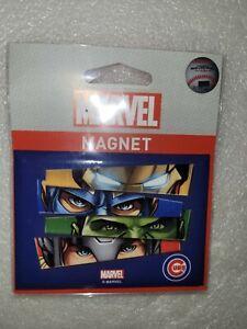 "NIP Wincraft Marvel Comics Avengers Chicago Cubs MLB Fridge Magnet 2.5"" x 3.5"""