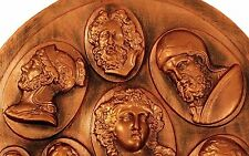 Antique GREEK ROMAN GOD GODDESS COPPER MOLD Candy Chocolate BUTTONS Jewelry