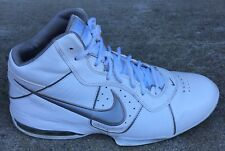 NIKE Men's Air Max Full Court Basketball Light weight White Silver Shoes Size 10