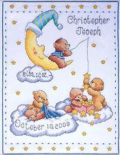 Cross Stitch Kit ~ Tobin Heavenly Bears Teddy Bear Baby Birth Record #T21727