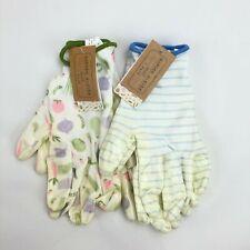 2 Pack Small Garden Gardener Gardening Gloves Yard Nitrile Knit Wrist NWT