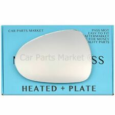 For Seat Leon 09-12 Left passenger side Electric wing mirror glass with plate