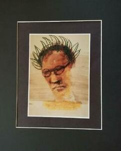 """Sidney Nolan """"Robert Lowell"""" Matted off-set Color Lithograph 1998"""