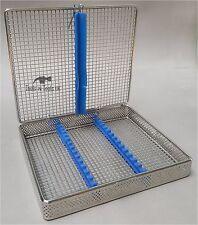 Maglia Perforata la sterilizzazione CASSETTA Vassoio Rack 15 strumenti dentale autoclave