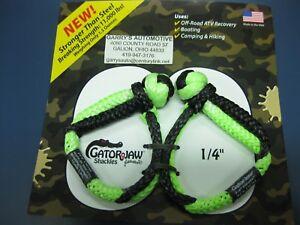 "Bubba Rope 1/4"" Mini Lil Gator Jaw Soft Shackle Plasma Braid Tow Recovery 176744"
