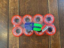 Vintage 8 Rollo Hyper 65MM 78A Hyper Wheels Roller Skate Wheels Red