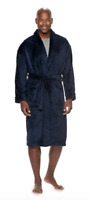 Men's Croft & Barrow Solid Plush Robes With Pockets, Size S/M, Navy, NWT