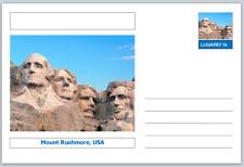 "Landmarks - souvenir postcard (glossy 6""x4""card) - Mount Rushmore, Usa"