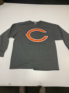 Chicago Bears Vintage Classic Shirt XL Long Sleeve Gray Majestic