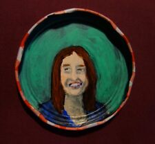 MICHELLE SHOCKED, Jam Jar Lid Portrait, Folk Singer, Outsider Art by PETER ORR