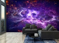 Sky Stars Deep Spase Purple Stars Wall Mural Photo Wallpaper GIANT WALL DECOR