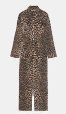 NWT Zara Leopard Print Jumpsuit Denim Size L
