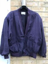 Mans Purple Silk Jacket From Milano  Size L