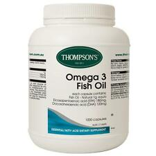 Thompsons Omega 3 Fish Oil **1000 Capsules **LARGE PACK**