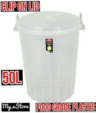 50L 50Litre Plastic Bucket Fermenting Fermentation Bucket Storage Food Safe