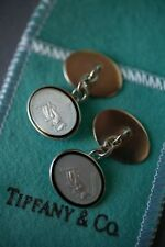 Rare Vintage Tiffany and Co Grasshopper Enamel Cuff Links + Original Pouch & Box