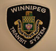 Vintage WINNIPEG TRANSIT SYSTEM Patch / Crest Canada COLLECTIBLE