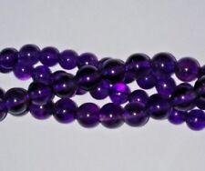 8 MM X 15 améthyste naturelle Loose Gemstone Round Beads British Vendeur