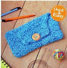 Personalizzata-Crochet GANCIO DESIGN-Cotone Naturale custodia a zip-Regalo