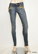 Nwt Denim & Supply Ralph Lauren Skinny Applique-Pocket Jeans Pants Indigo 26-32