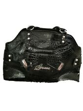 Black GUESS Bag - Large, Black Croc Patent