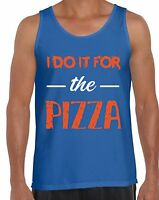 GYM Tank Tops for Men I Do It For the Pizza Men's Funny Workout