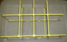Brady Y1152382 Binder Holder Rack Yellow Wire Binders Lot Of 5