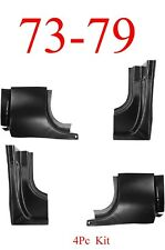 73 79 Ford 4Pc Front & Rear Door Post Kit, Truck, F150 F250 F350 78 79 Bronco