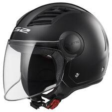 Ls2 Casque Moto Open Of562 Airflow Gloss Noir Long S