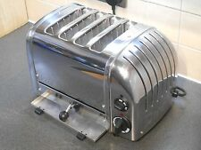 SUPERB DUALIT 4 SLICE POLISHED TOASTER 42174 4CBGB COMBI FOUR EXTRA WIDE SLOTS
