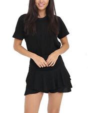 Womens Layered Frill Ruffle Mini Skirt Ladies Celebrity High Waist Skorts Dress