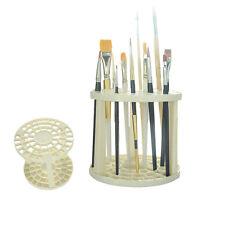 Art Supplies Multi Bin Paint Brush Pen Holder Round Plastic Drawing Organizer#