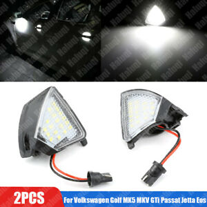 LED Side Mirror Puddle Light For Volkswagen VW Golf MK5 MKV GTi Passat Jetta Eos