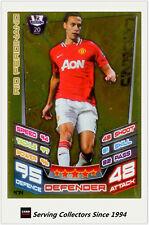 2012-13 Match Attax Legend Foil Card #474 Rio Ferdinand (Man Utd)