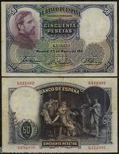 B-D-M España Spain 50 pesetas E. Rosales 1931 Pick 82 BC+ F+