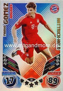 Match Attax 2011/2012 - Mario Gomez #381 - Hattrick-Held