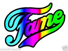 FAME MULTI COLOUR EFFECT 80S retro iron on t shirt transfer A5