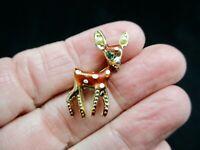 "Vintage-1960's Gold Tone ""Bambi"" Deer Figural Brooch/Pin"