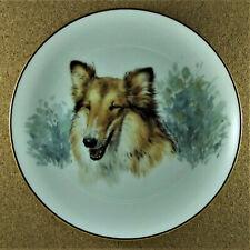Monika Keller - Cole Collectible Plate Collie Dog Lassie White Blue Gold Brown