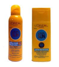 L'OREAL SUBLIME SUN Spray Protettivo 200ml IP 50 + Latte Protettivo 200ml IP 50